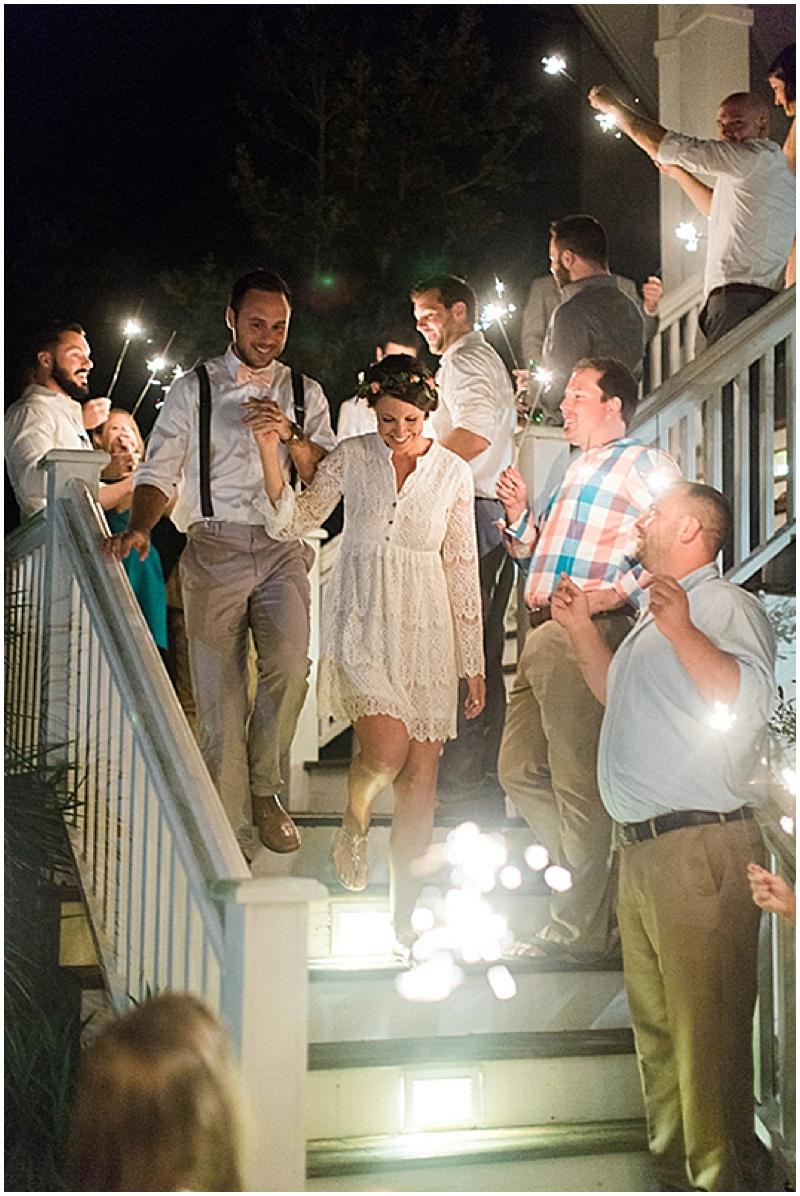 wedding reception departure