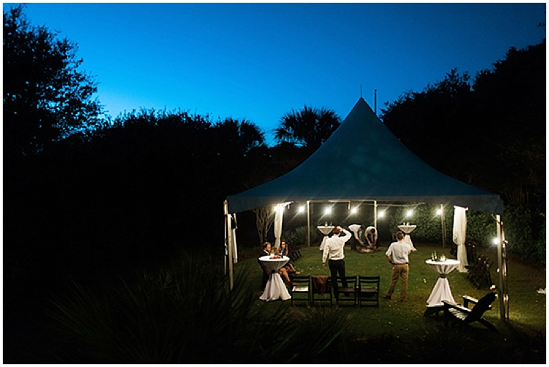 evening tent recepction