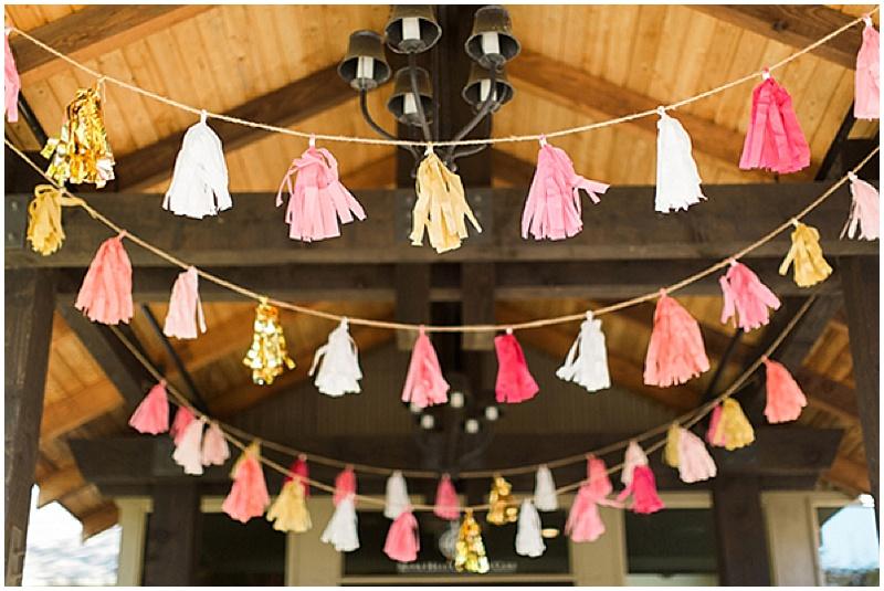 tassel wedding decor