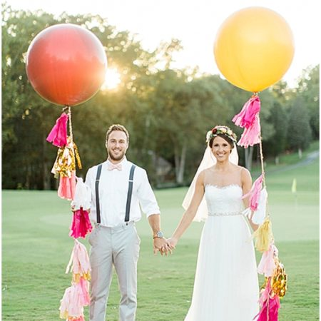 balloon tassel wedding decor