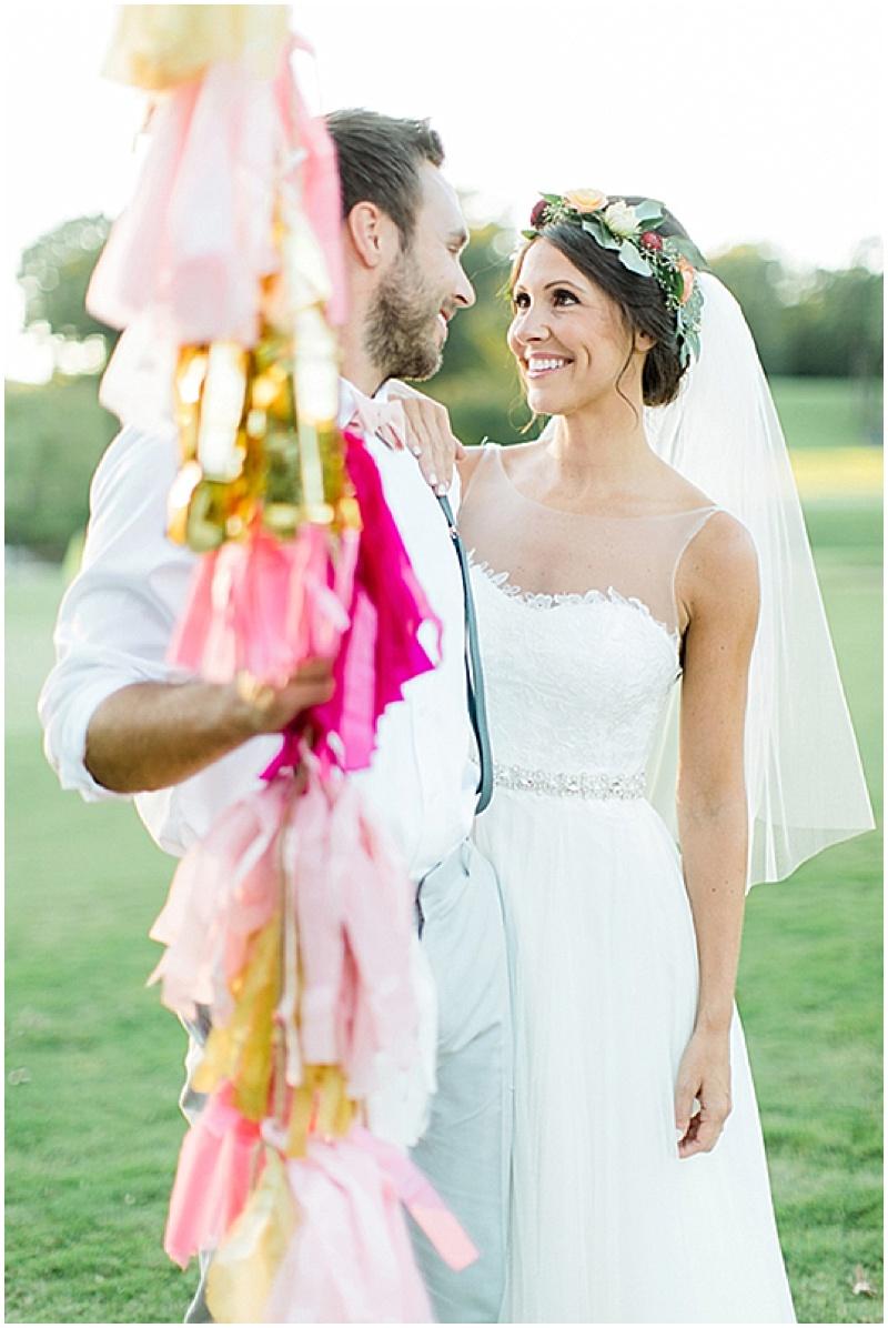 balloon tassel wedding decor