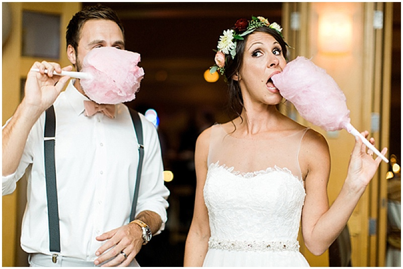 cotton candy wedding