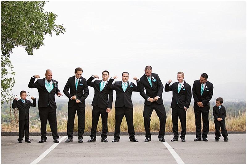 black suits groomsment