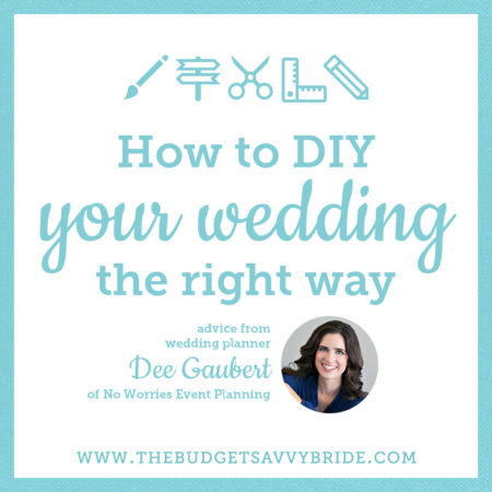 diy your wedding the right way