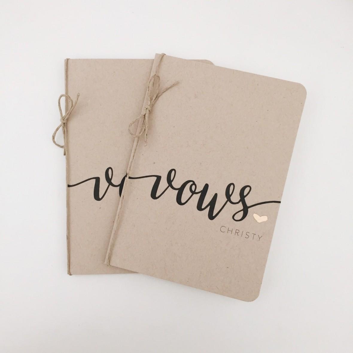 wedding vows notebooks