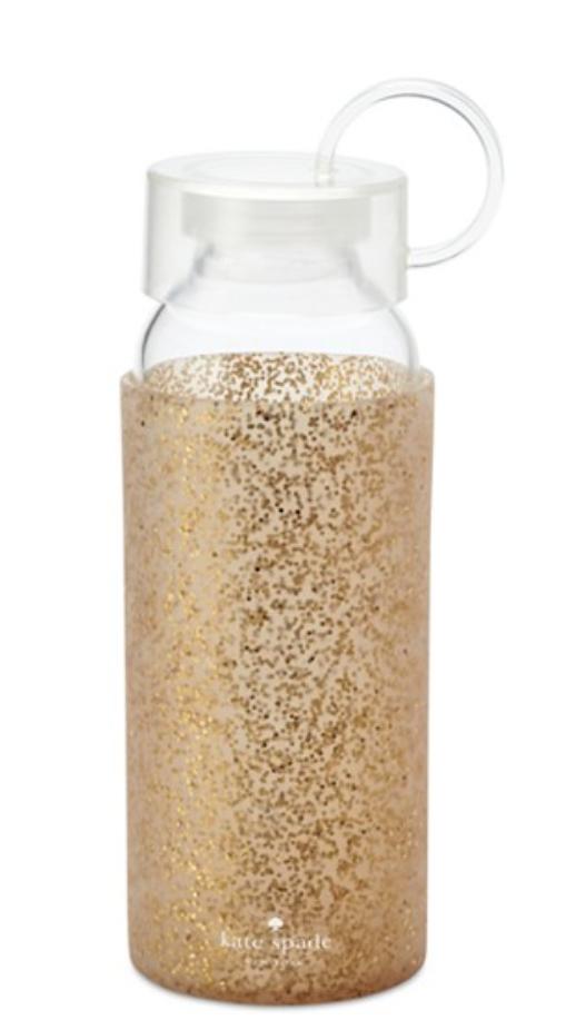 kate spade new york Gold Glitter Water Bottle