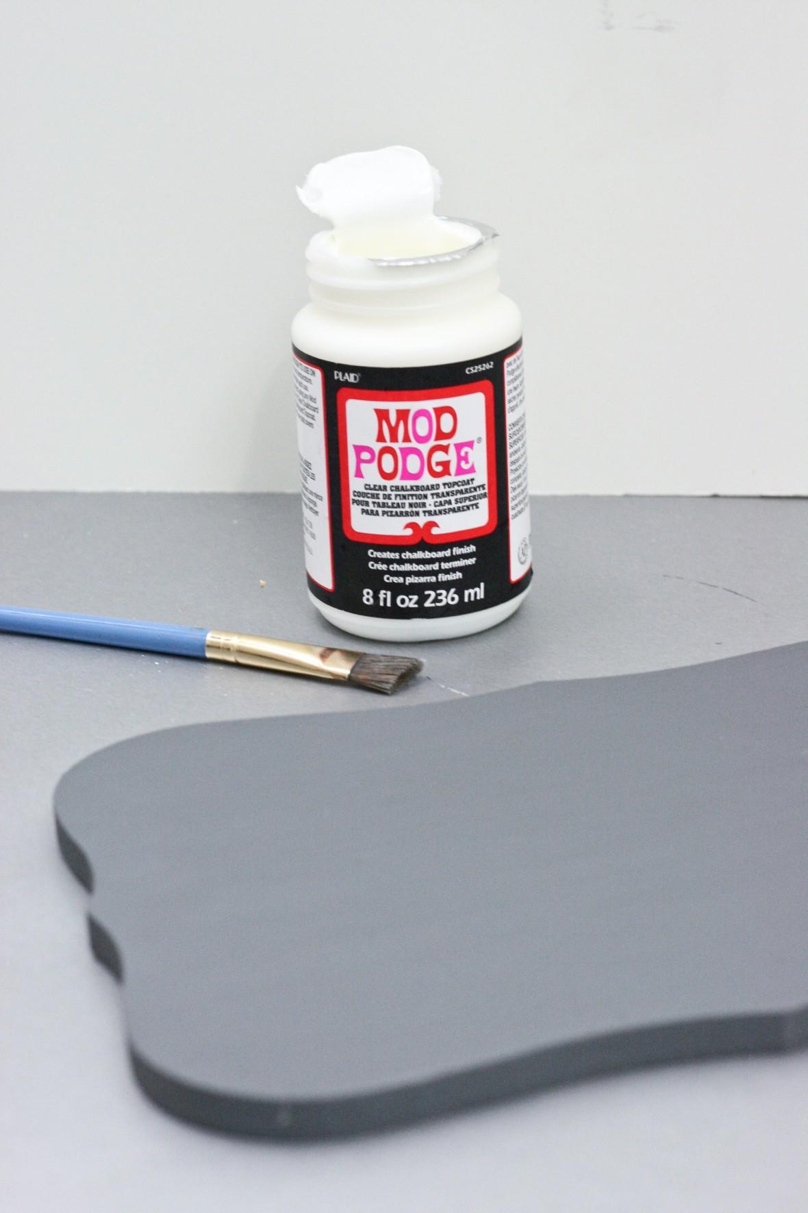 DIY Wedding Photo Booth Sign - mod podge chalkboard
