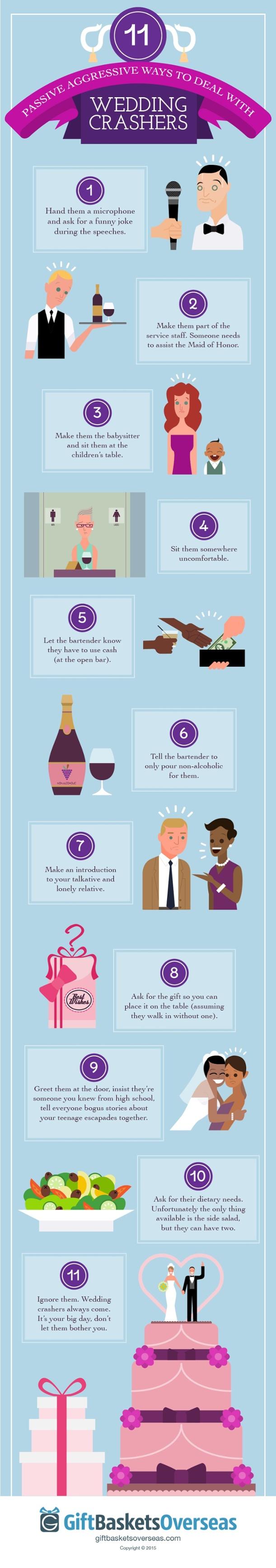11 Ways to Deal with Wedding Crashers - Wedding Crashers - 11 Ways to Deal with Uninvited Guests