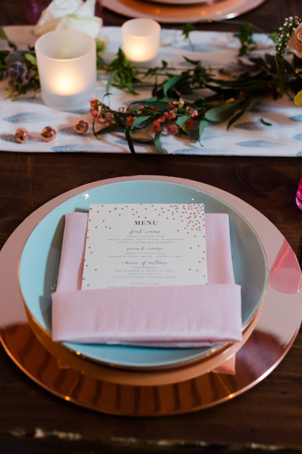 Minted place setting - Aisle Society Debut Party - Sponsored by Minted