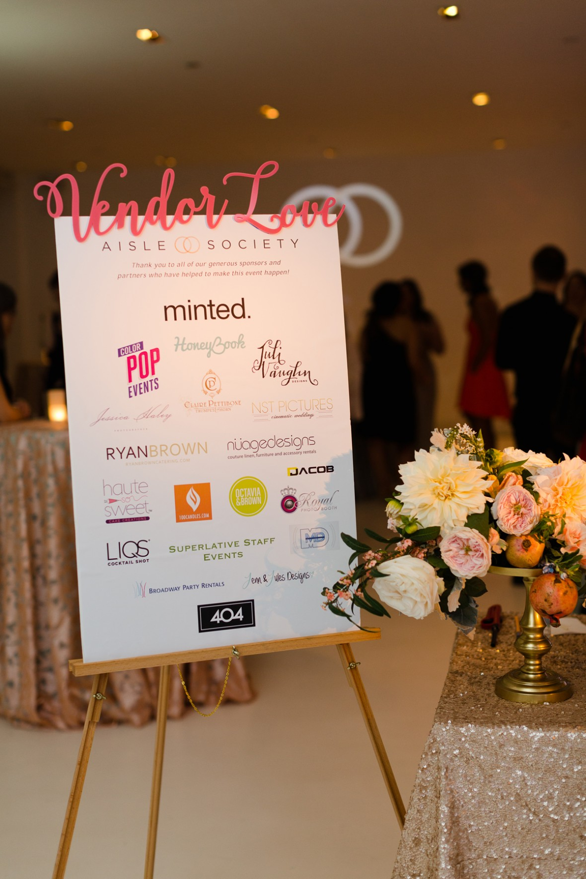 Vendor Sign - Aisle Society Debut Party - Sponsored by Minted
