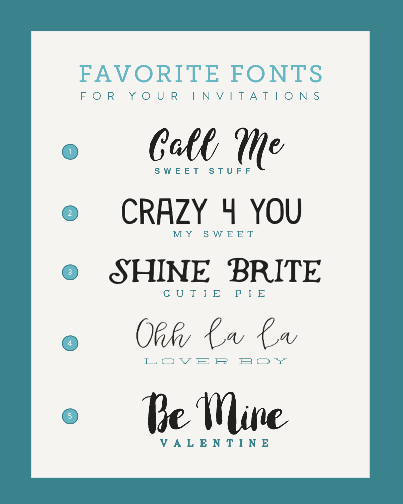 BSB Favorite Font Pairings for February