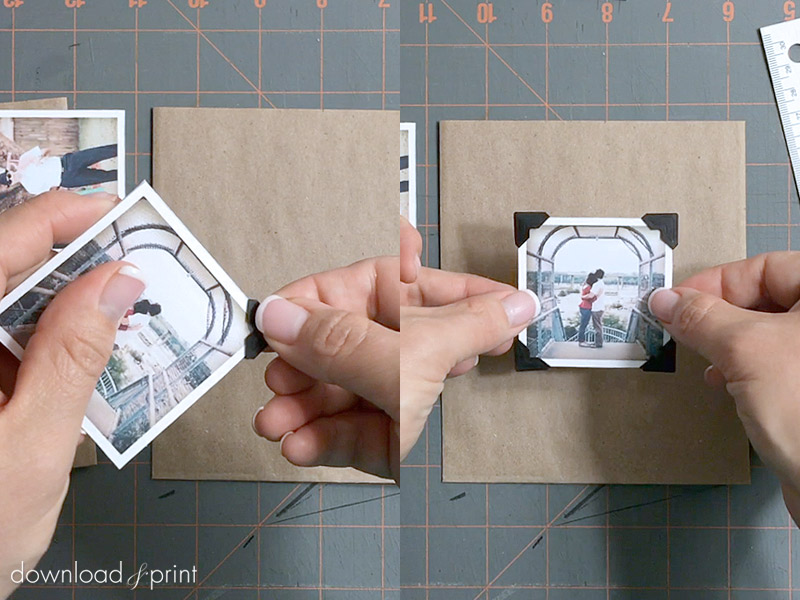 DIY Vintage Photo Album Pocket Wedding Invitation Embellishment - Attach the Photo