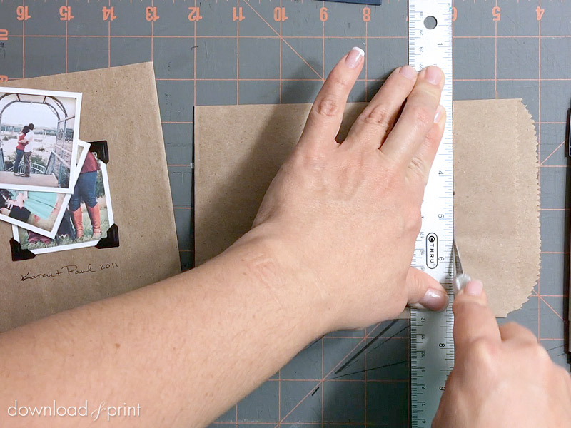 DIY Vintage Photo Album Pocket Wedding Invitation Embellishment - Trim Your Bag
