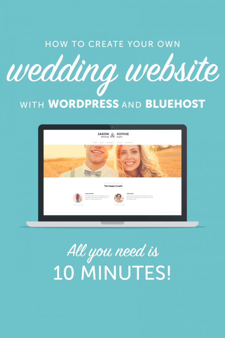create your own wedding website