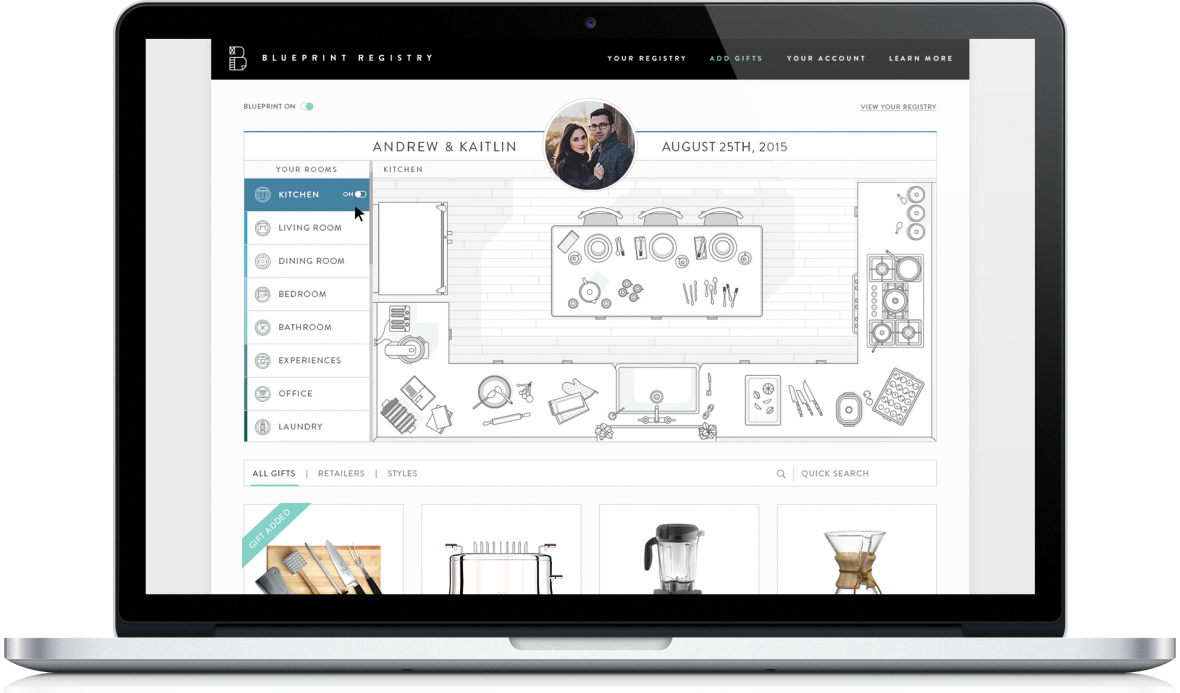 Blueprint Registry - register for everything you need for your newlywed life!