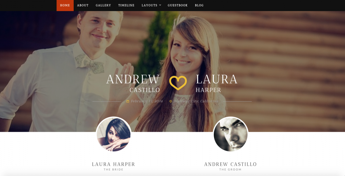 neeqah wedding website theme