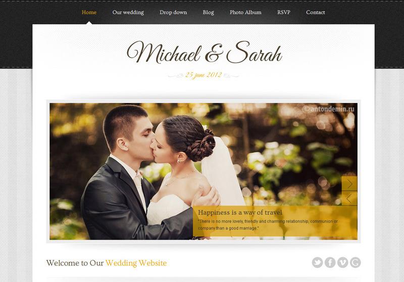 Marriage WordPress Theme for Wedding Website