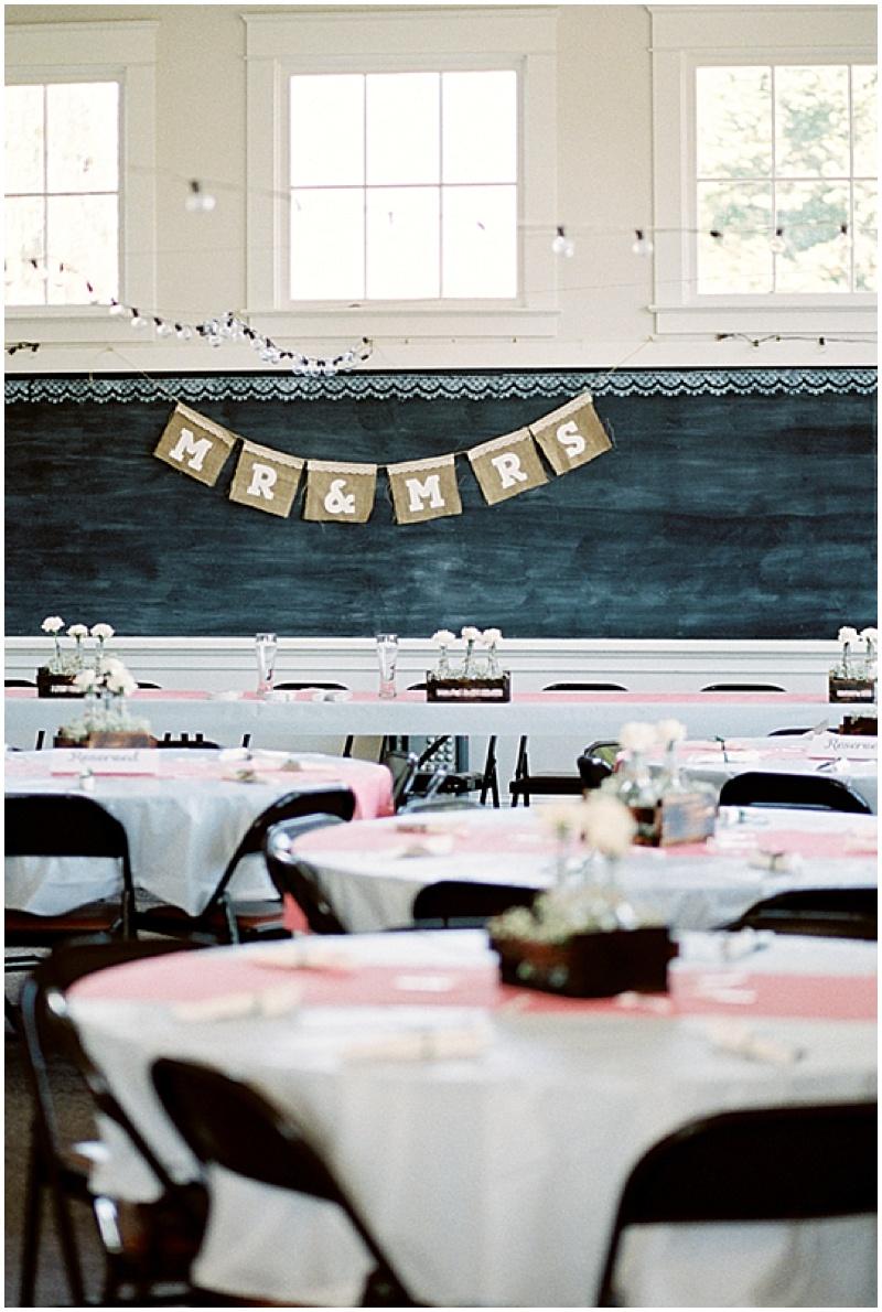 vintage wedding reception decor