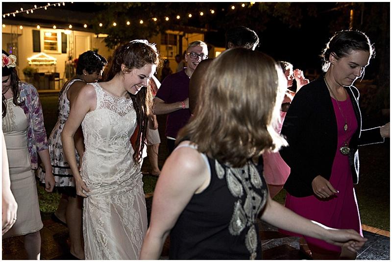outdoor wedding dancing