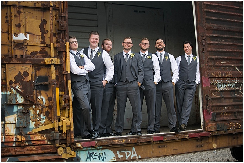 gray groomsmen attire