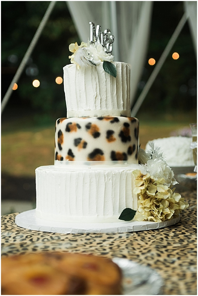 leopard print wedding cake