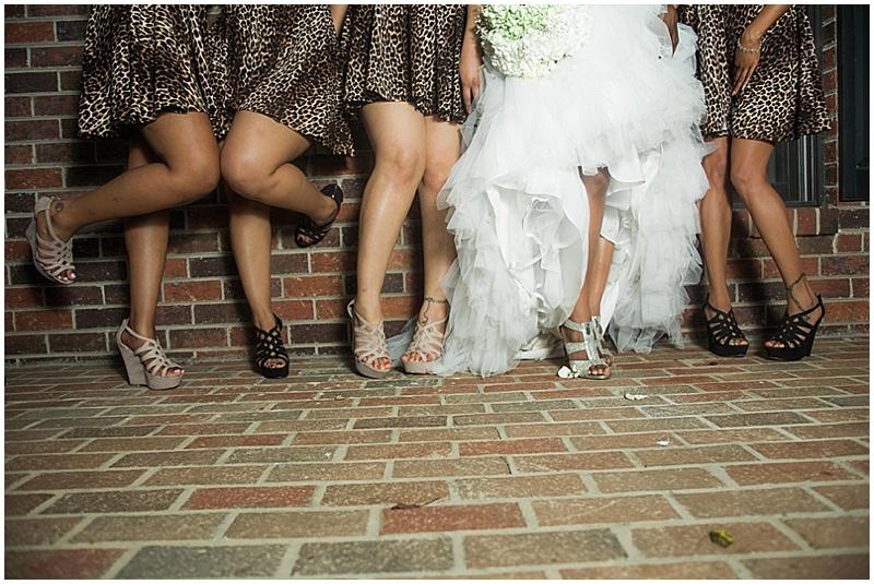 leopard print bridesmaid dresses