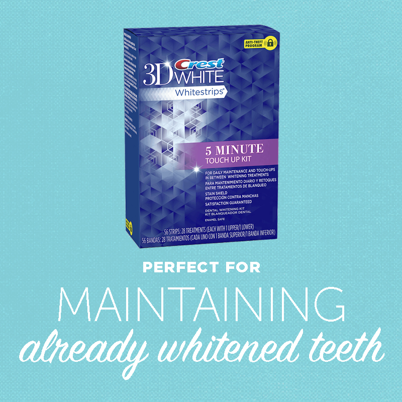 crest 3d white whitestrips 5 minute touch up kit