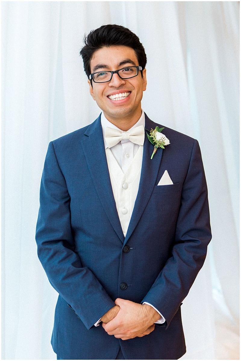 navy groom attire