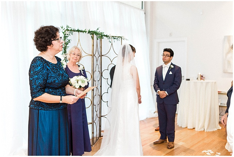wedding family readings - intimate wedding ceremony