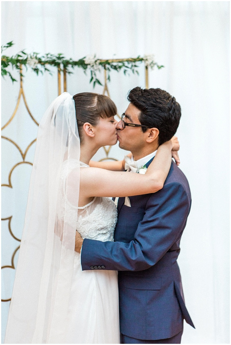 first kiss - intimate wedding ceremony