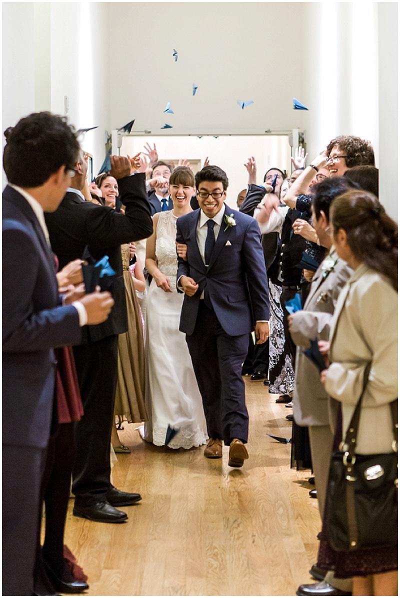 paper airplanes wedding send off