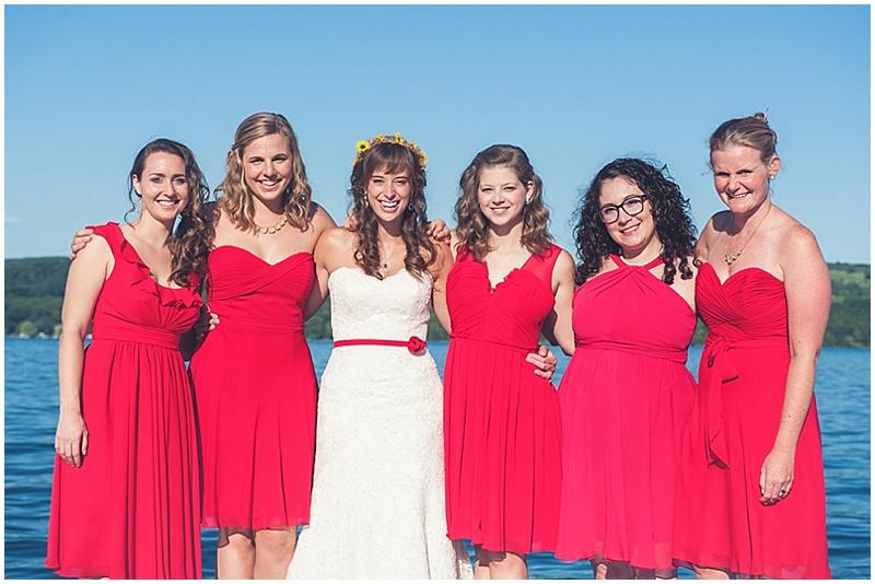 red wedding dressing