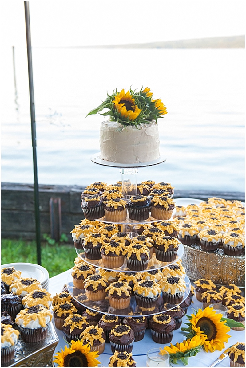 sunflower wedding cupcakes