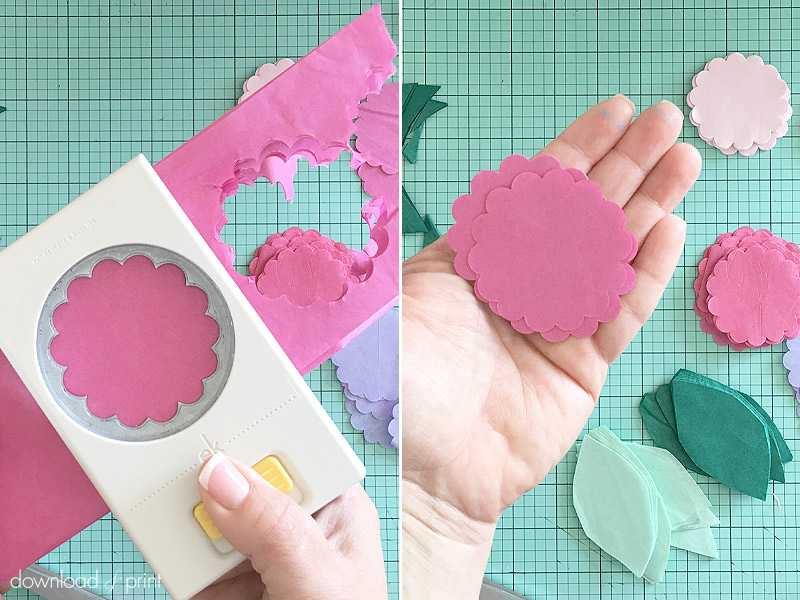 Download-and-Print-Tissue Paper Flower Letters- punch petals