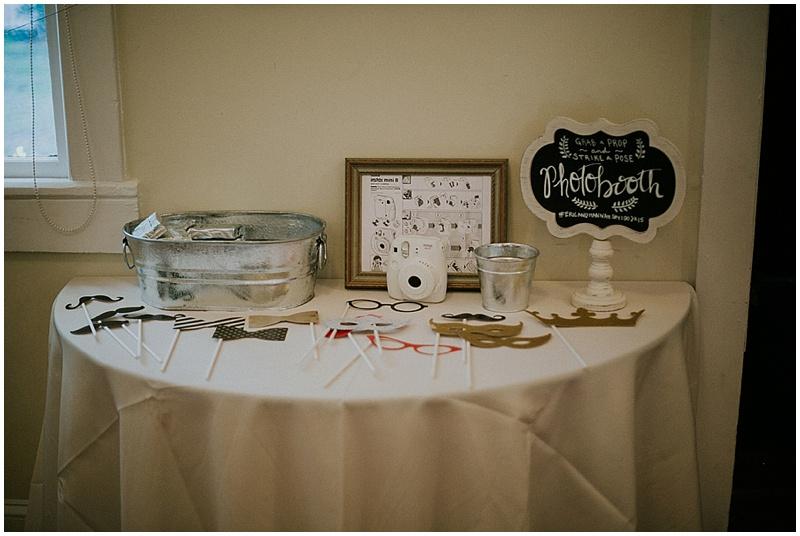 homemade wedding booth