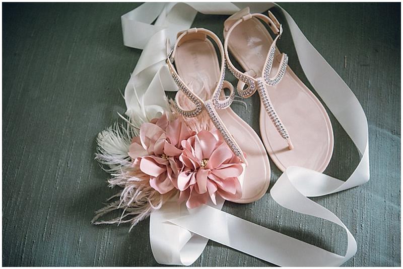 dusty pink wedding accessories
