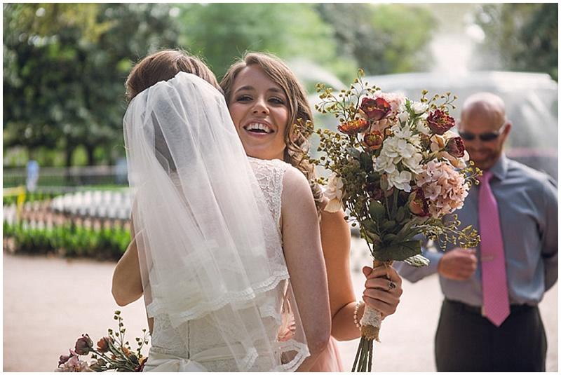 bridesmaid after wedding