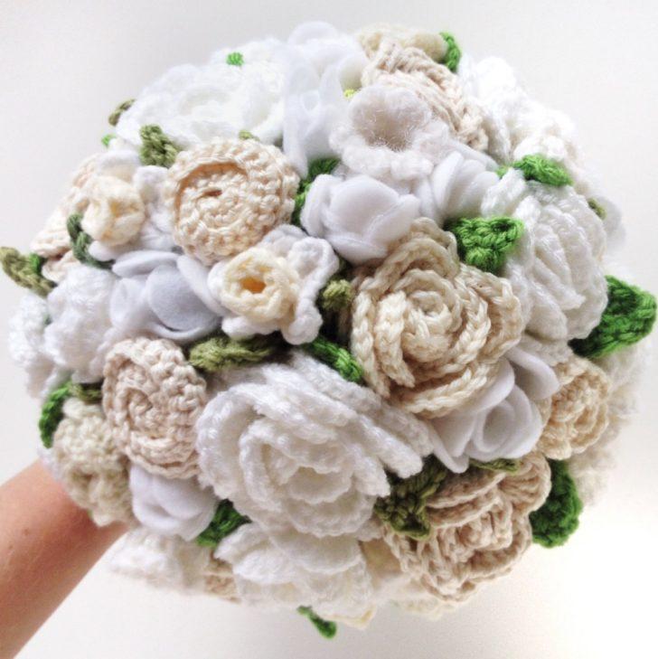 crochet and felt bouquet from tohaveandtoholder on etsy