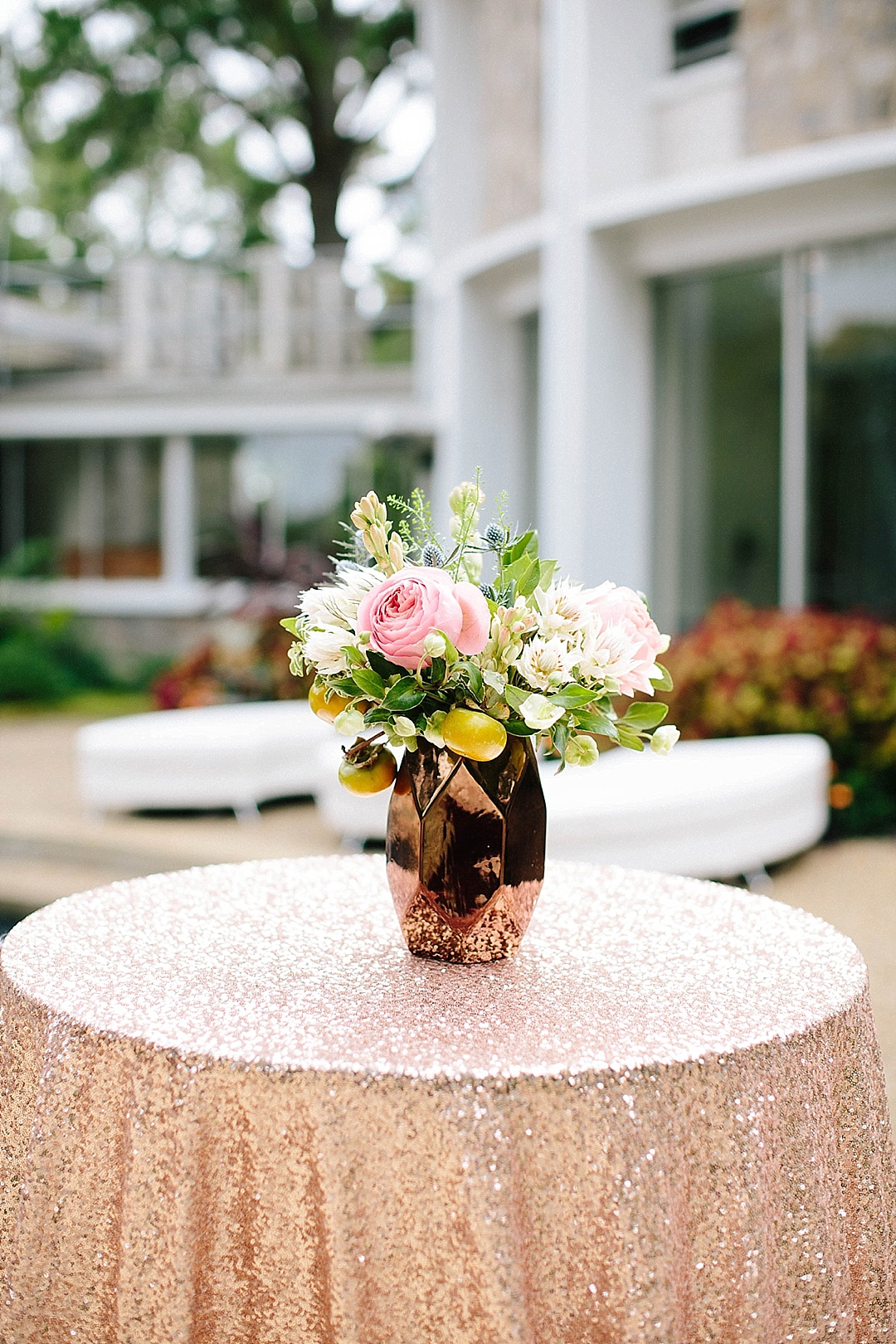 davids bridal for aisle society - centerpieces