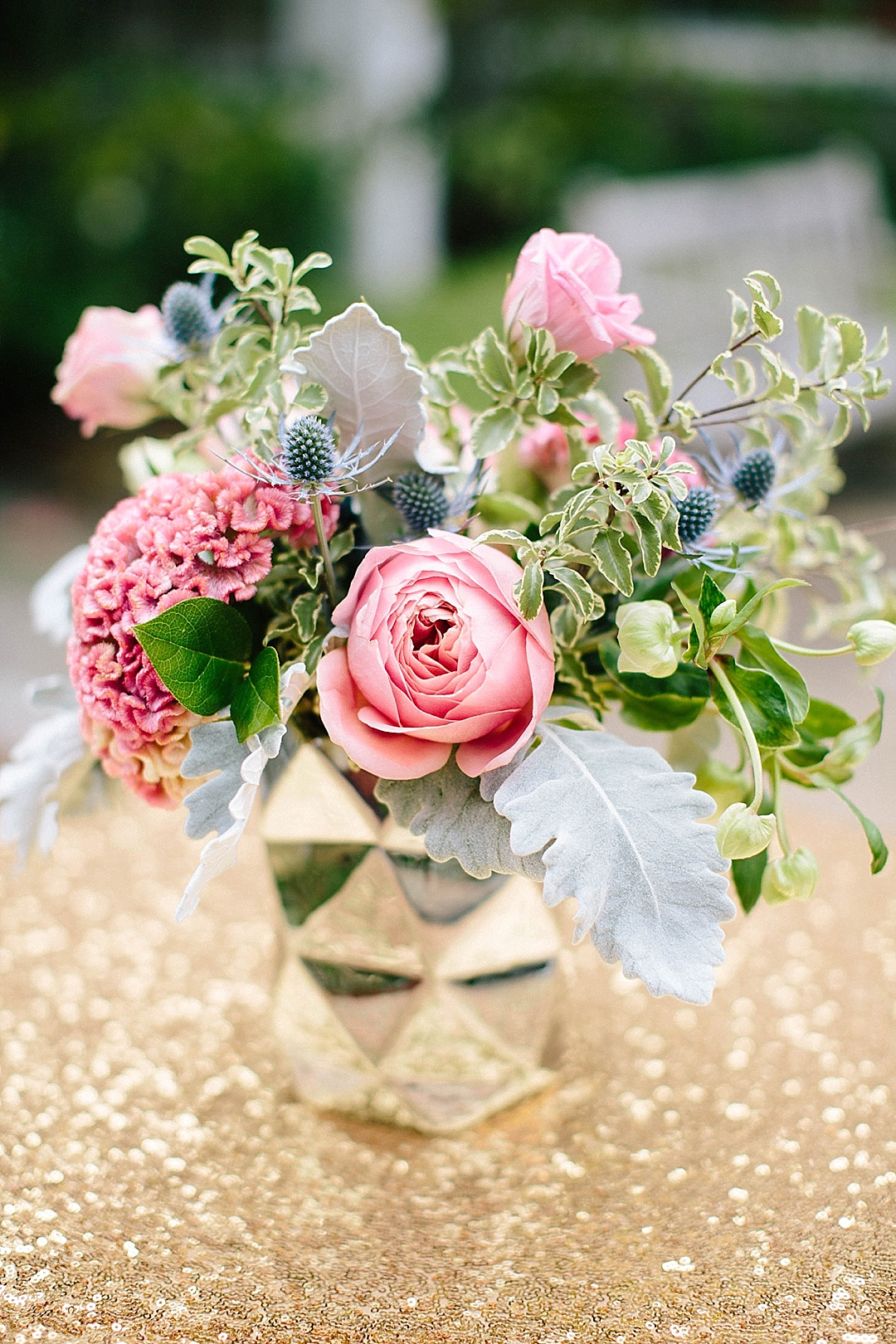 davids bridal for aisle society - flower arrangement