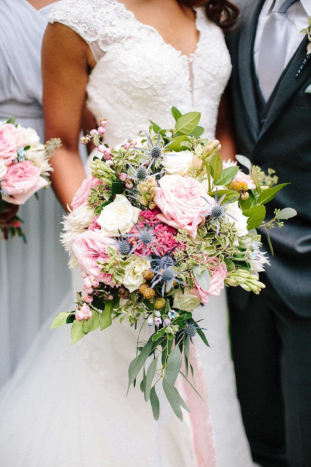 davids bridal for aisle society - florals