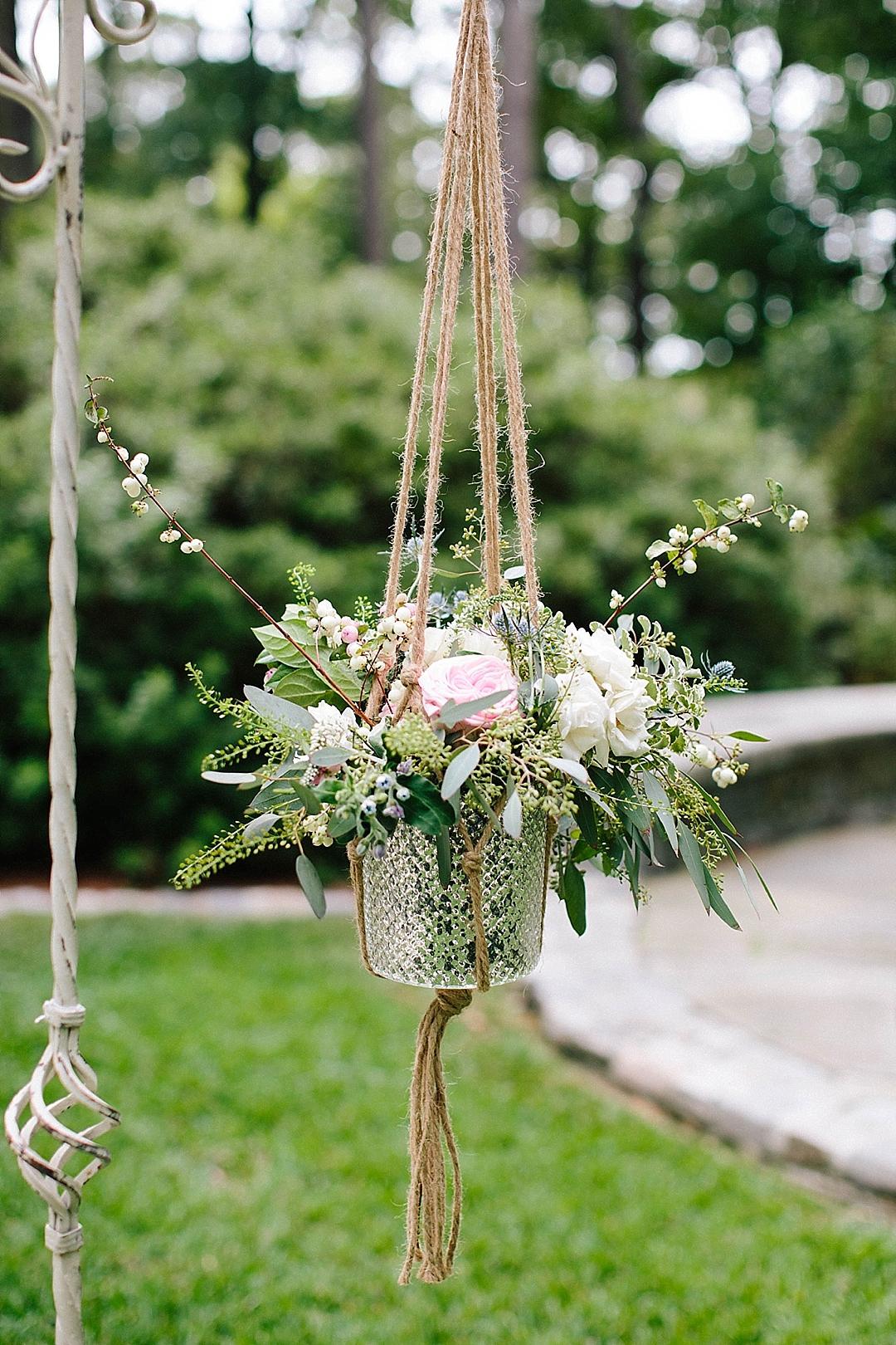 davids bridal for aisle society - hanging arrangement