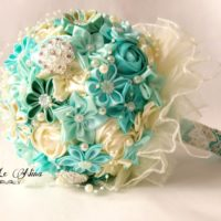 satin wedding bouquet - fabric bouquet