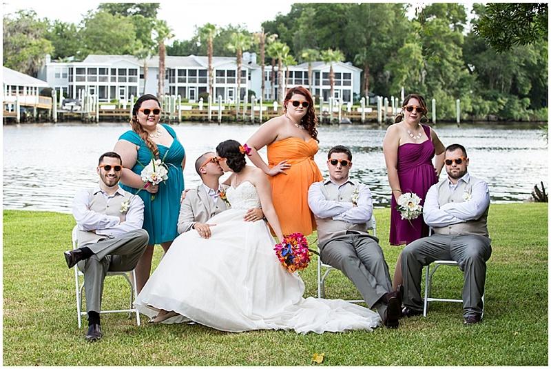 colorful bridesmaid attire