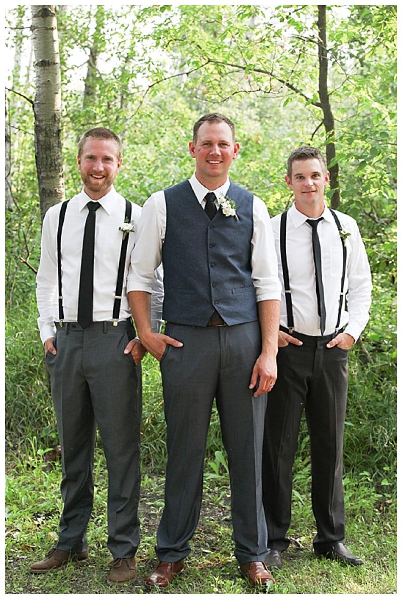 suspenders groomsment attire