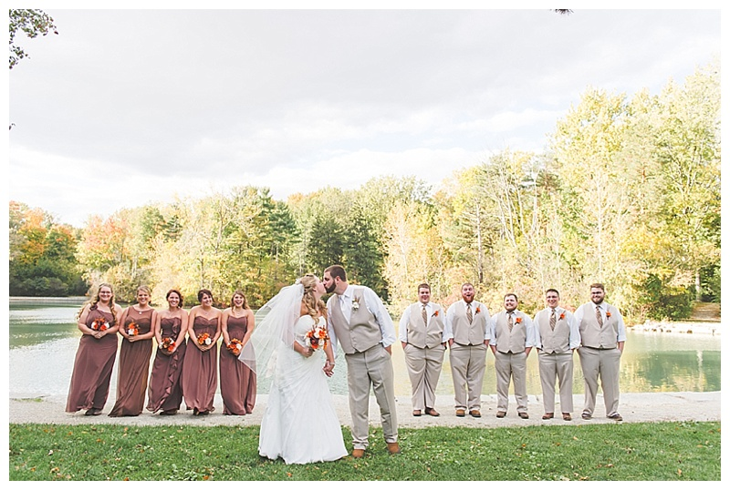 brown and khaki wedding attire