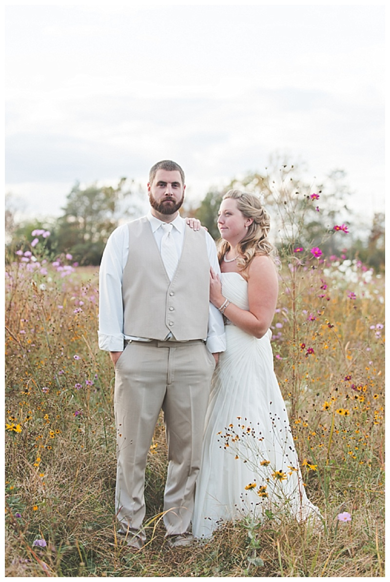 fall wedding couple photos
