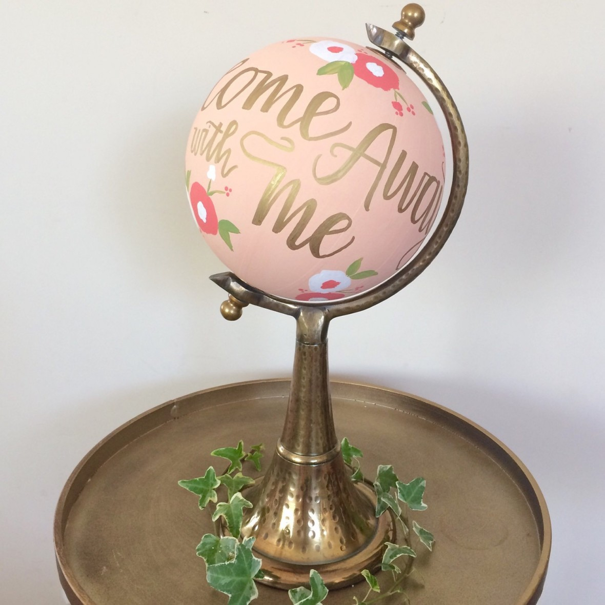 Globe Wedding Guest Book from SugarandChicShop on Etsy