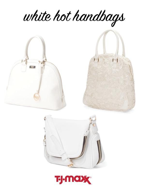 tjmaxx white handbags
