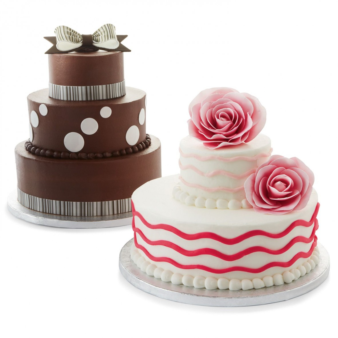 wedding and groom's cakes from Sam's Club
